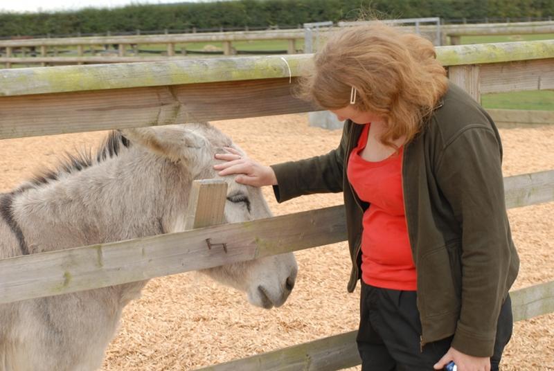Karianne and donkey
